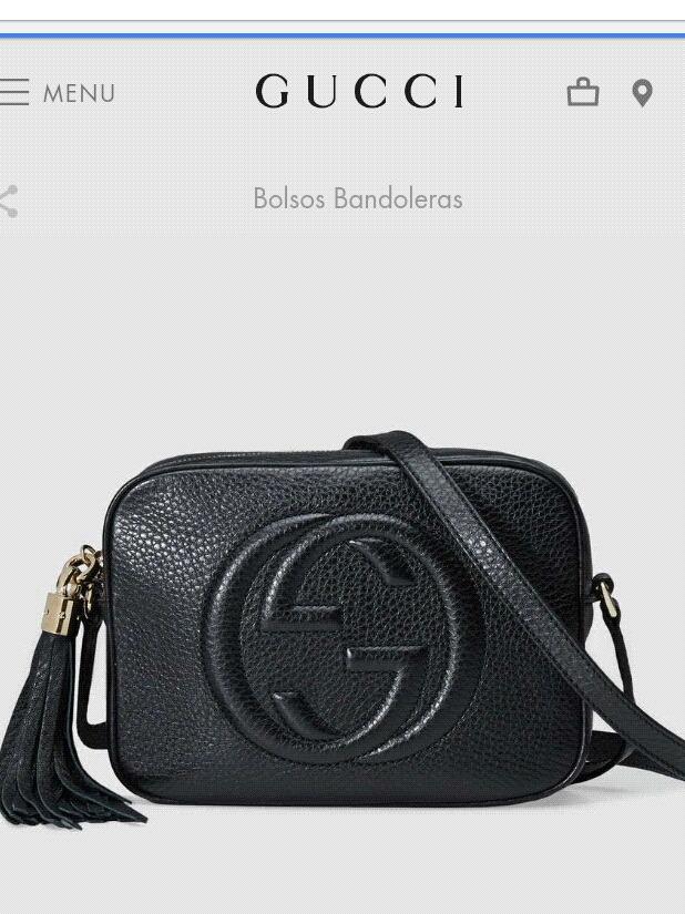 f6a41b0fc Bolsa Gucci Soho Disc 100% Piel Envio Gratis - $ 4,590.00 en Mercado ...