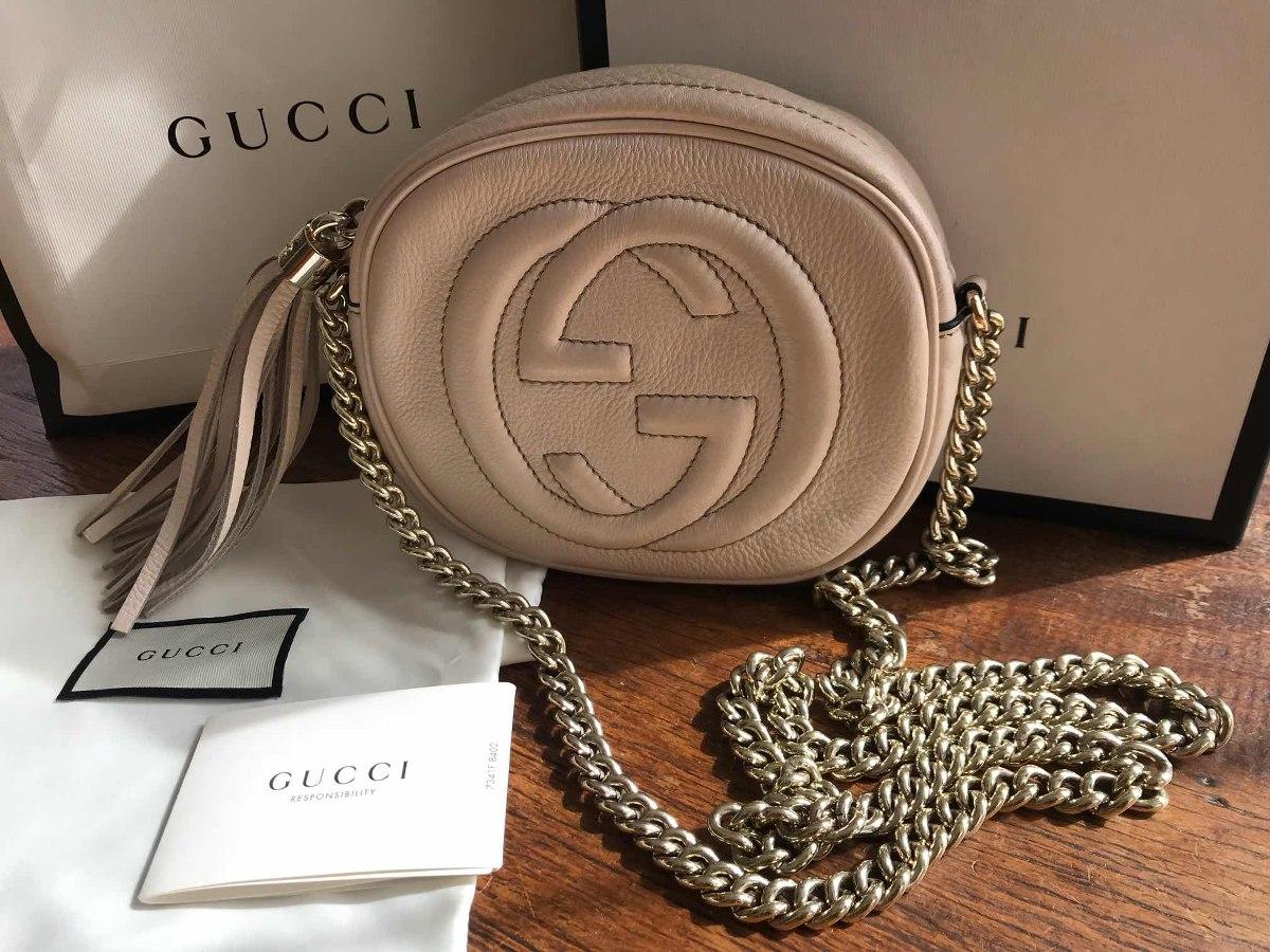 6d508f809 Bolsa Gucci Soho Disco Com Corrente Original - R$ 3.800,00 em ...