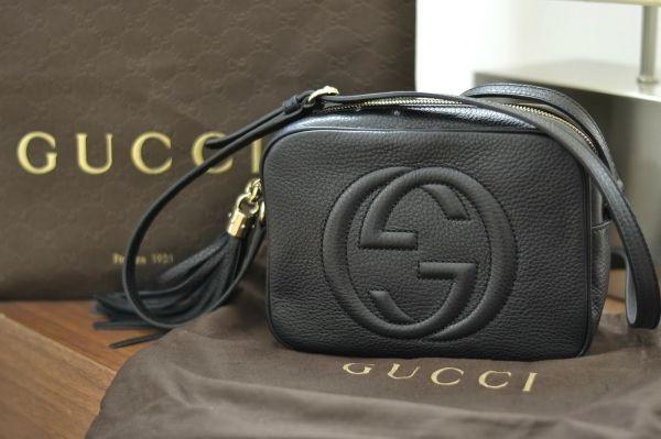 73b4985309fc9 Bolsa Gucci Soho Transversal 100% Couro Original - R  1.250,00 em ...