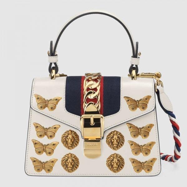 0ee5319a5 Bolsa Gucci Sylvie Animal Studs Leather Mini Bag Original - R  1.699 ...