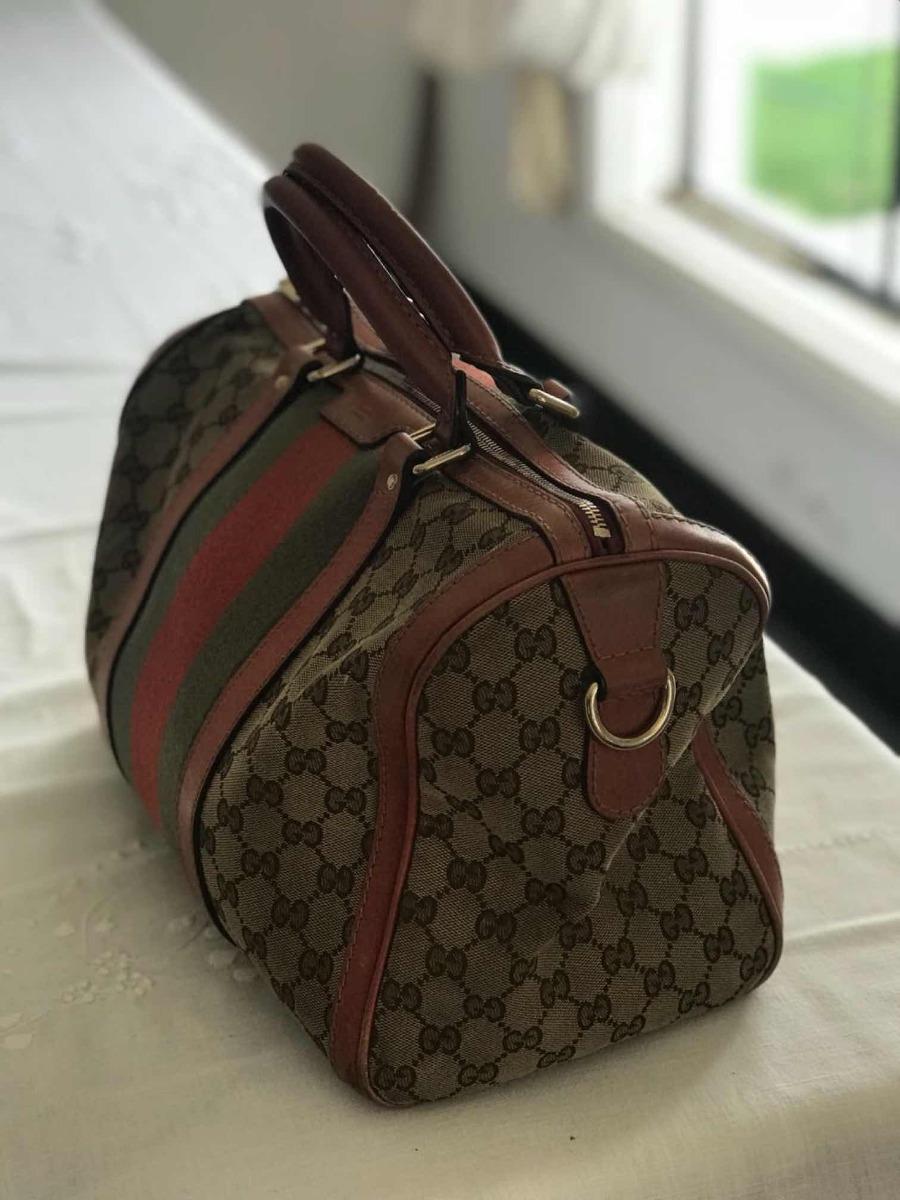316c644a9 Bolsa Baú Gucci Original Na Cor Rosa, Em Tecido Jacquard - R$ 2.000 ...