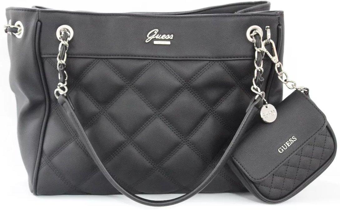 Bolsa Guess Cheerleader Para Dama Le656206bla Original Negro