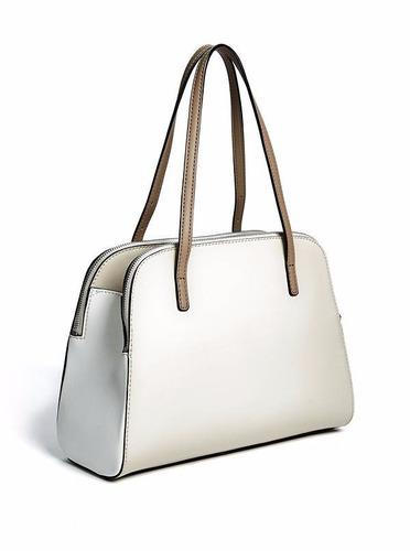 bolsa guess dama 100% original blanco,arena vy649906-tmu