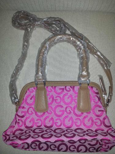 bolsa guess dama rosa original nueva