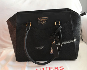 Bolsa 100 auténtica Grabada Guess Meses Envío Negra Sg693222 bf7Y6gy