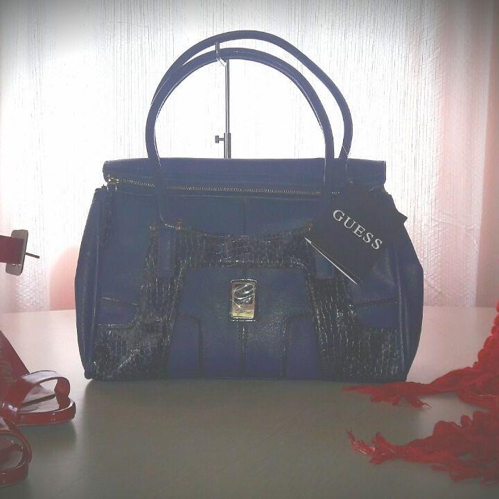 d0b8c4d27 Bolsa Guess Original Azul - R$ 399,00 em Mercado Livre