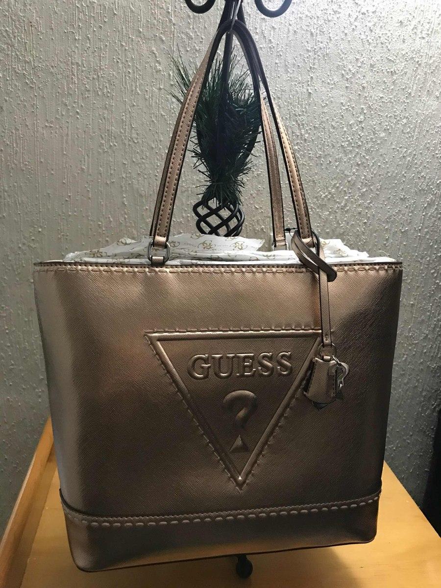 7a44bcee Bolsa Guess Original En Color Rose Gold Envio Gratis - $ 1,999.00 en ...