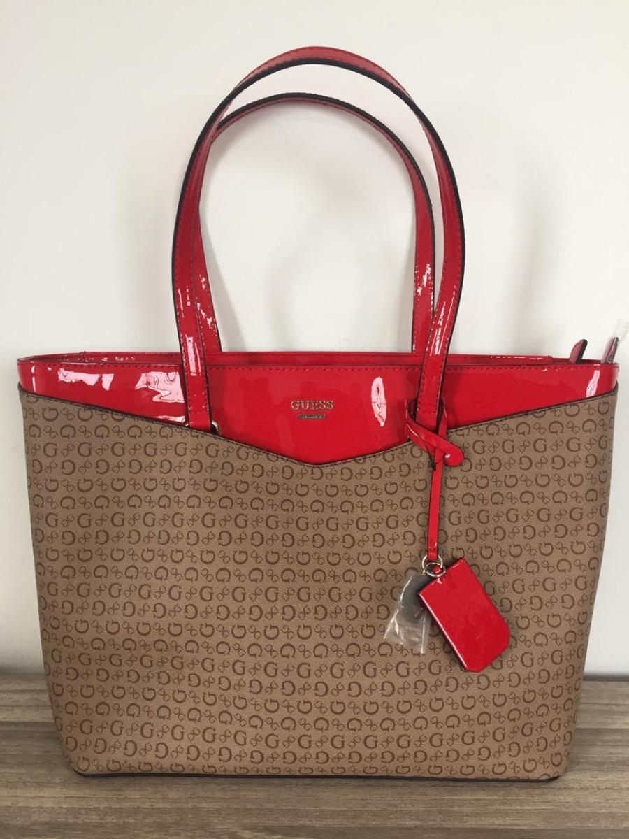 d86f9c5c5 Bolsa Guess Original Feminina Cor Marrom E Vermelha - R$ 589,99 em ...