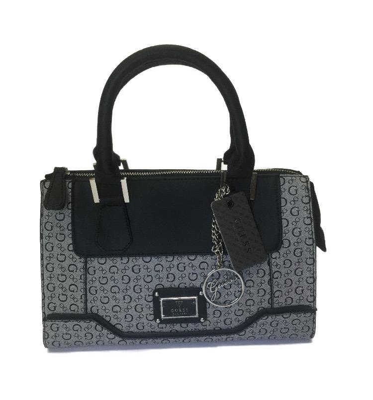 50bfe268d bolsa guess preta original couro handbag com alça ombro. Carregando zoom.