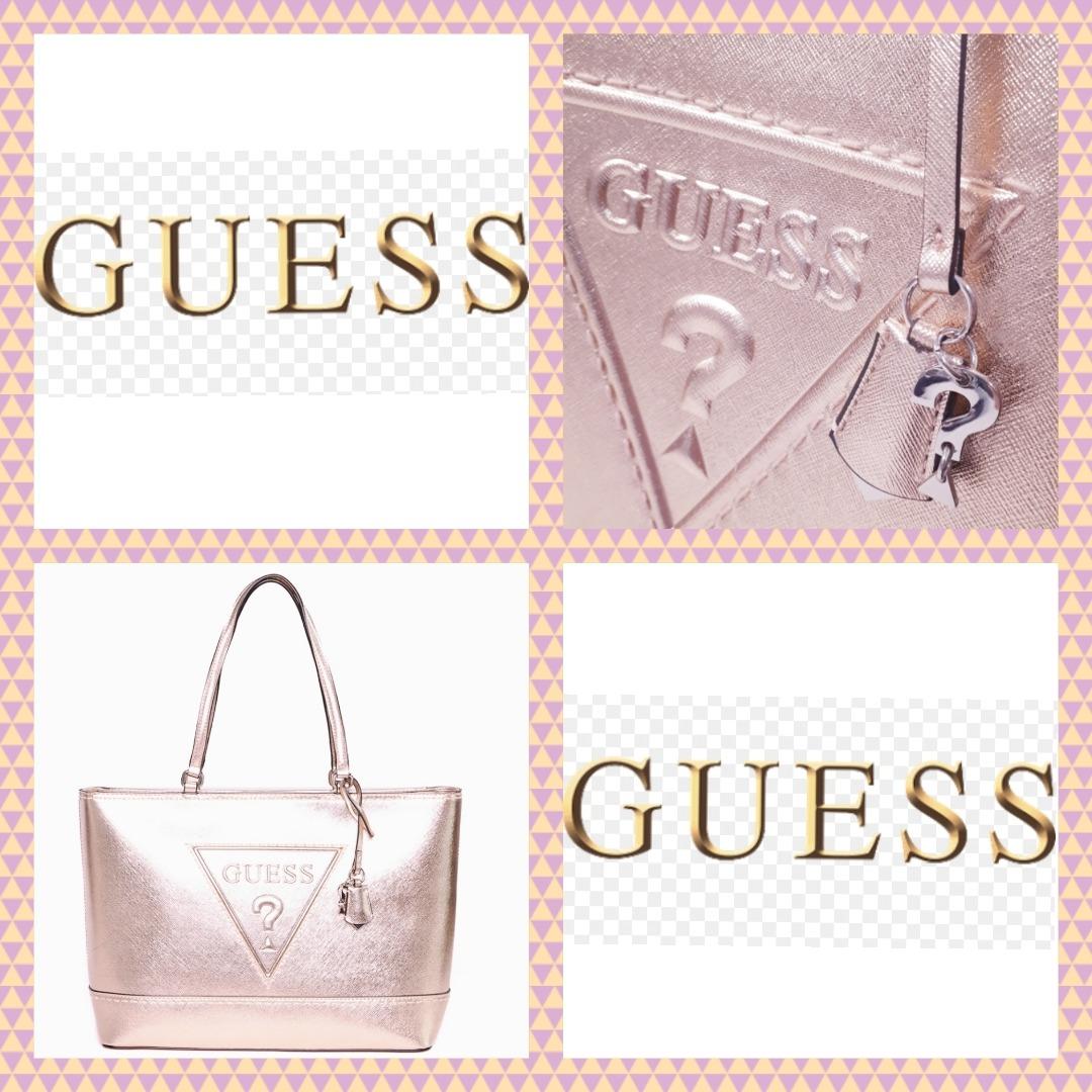 348ba5ebb Bolsa Guess Rose Gold Original Importada Peça Única $399 Hj! - R ...