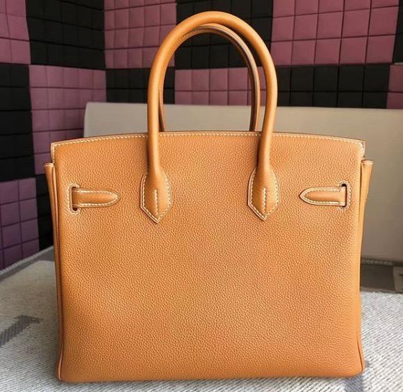 4b23999acd7 Bolsa Hermes Birkin 35 Cm 100% Couro Original - R  3.300