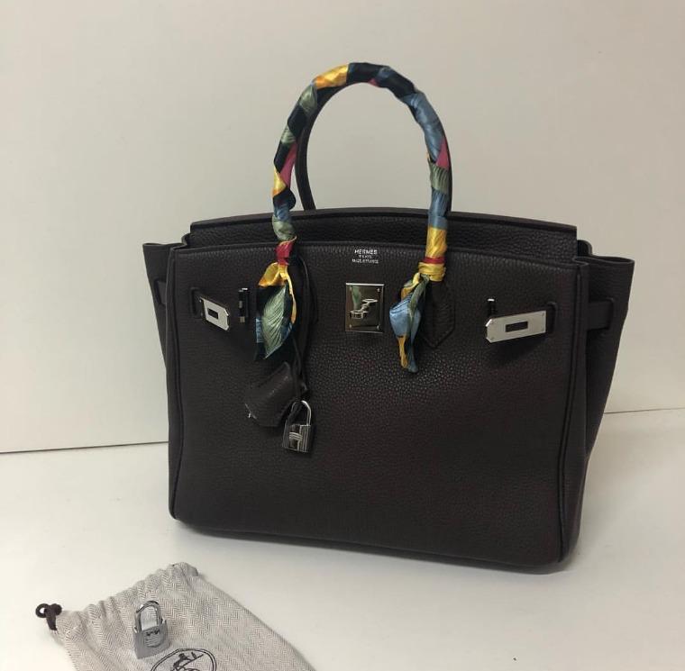 d4c2f03ae Bolsa Hermès Birkin Clemence Ecorce 35 - R$ 3.500,00 em Mercado Livre