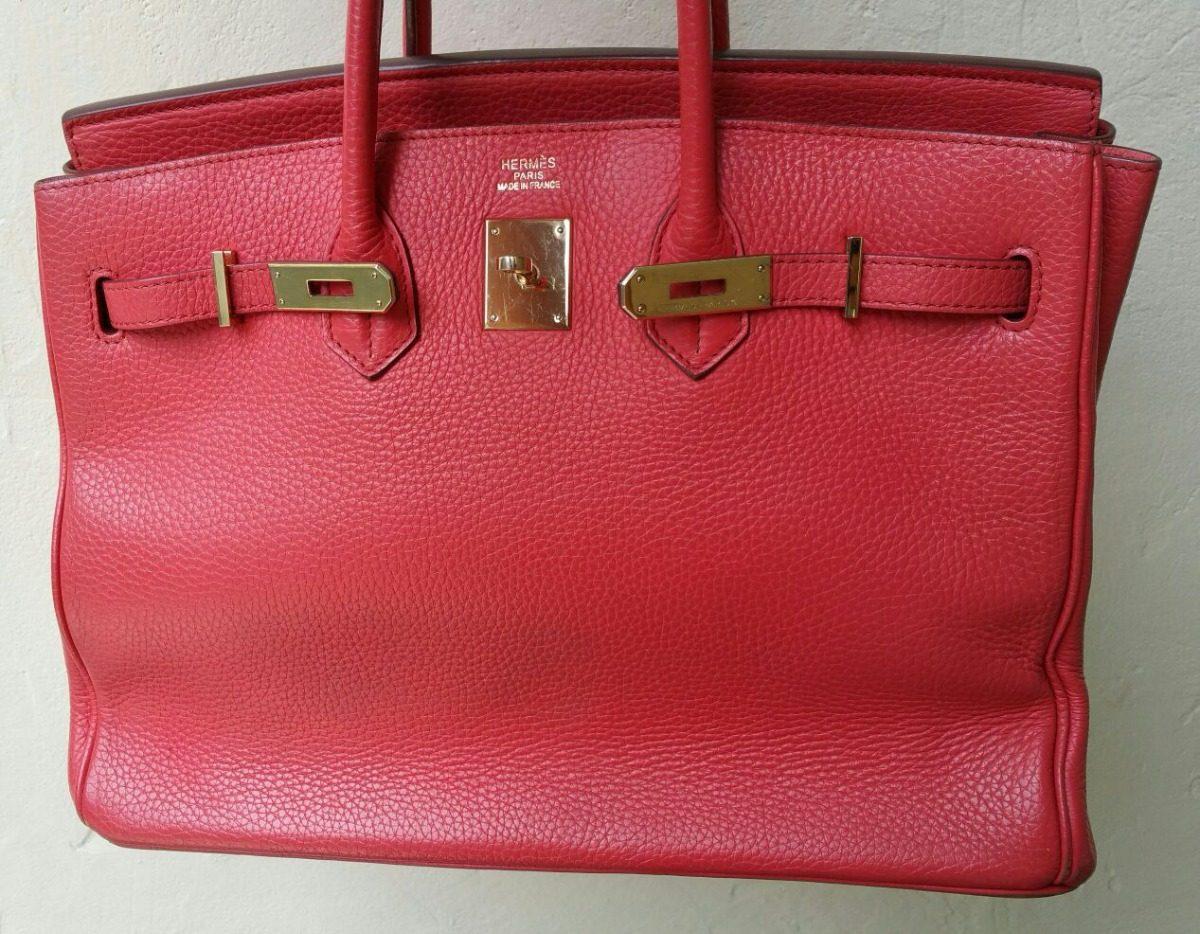 9c989d3583e Bolsa Hermès Birkin Original Usada! - R  10.700