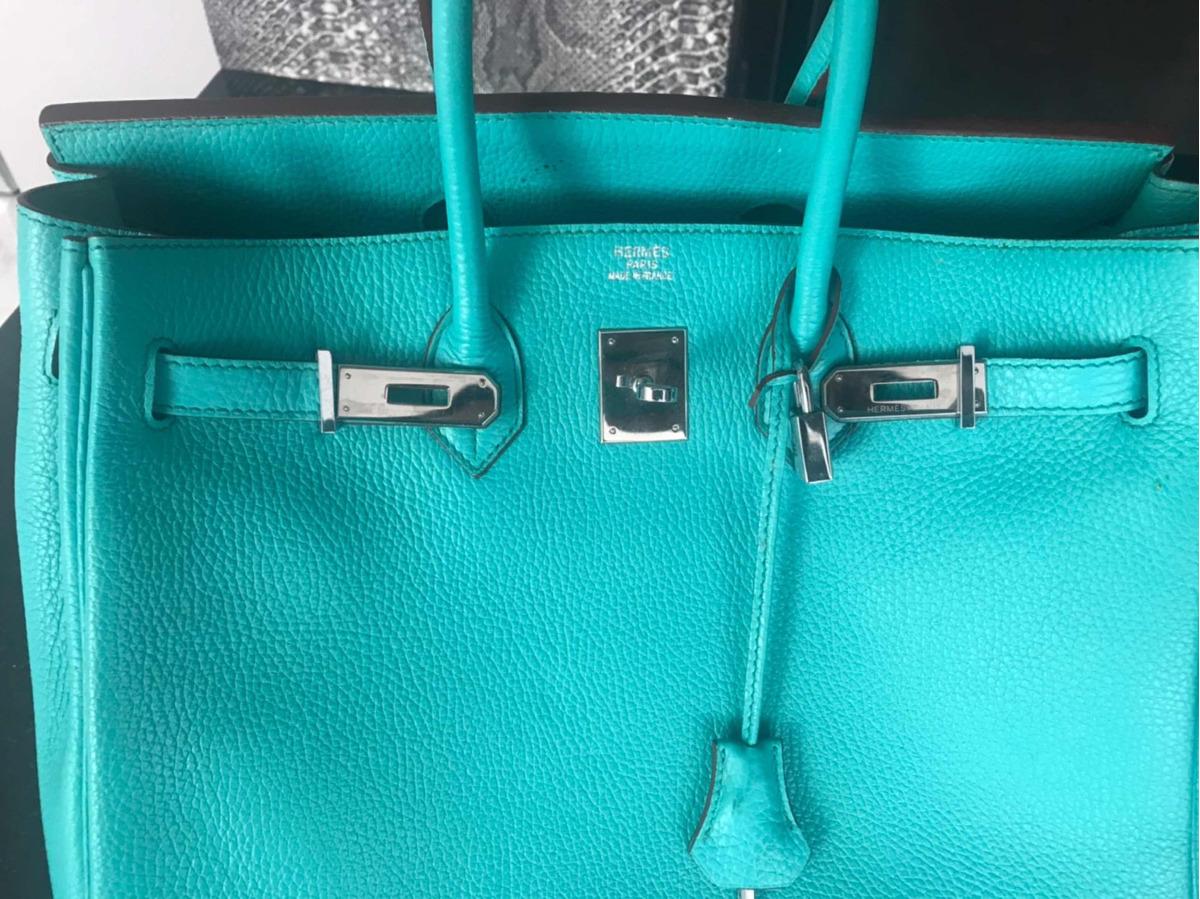 7506af1f0ce bolsa hermès birkin usada compra em paris brechó lily rose. Carregando zoom.