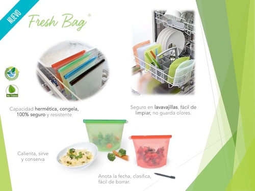 bolsa hermética de silicon para cocinar y conservar alimento