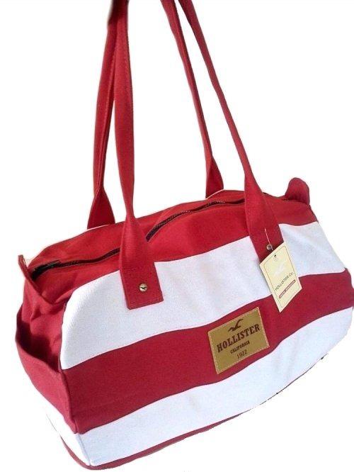 4016c3163 Bolsa Hollister Mala De Bordo Ziper Vermelha Original Mulher - R$ 80 ...
