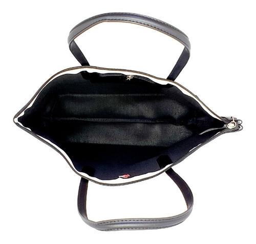 bolsa hpc polo tote y cartera negro