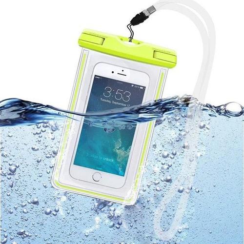 bolsa impermeable para celular con luminoso bajo el agua
