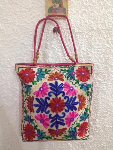 bolsa indiana bordada, bolsas indianas tecido, bolsa grande