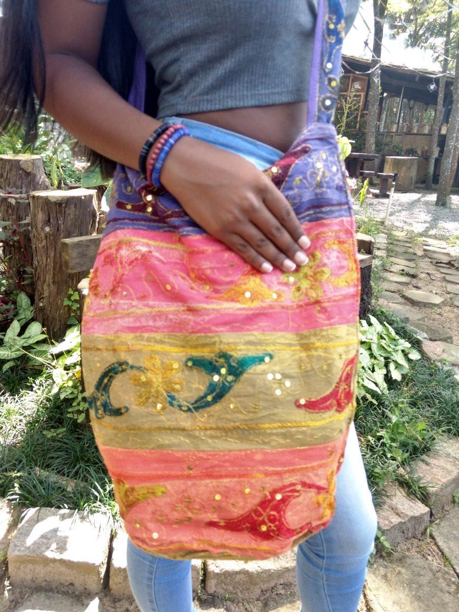 7b9d705fa bolsa indiana grande saco de tecido tipo sacola bordada mão. Carregando  zoom.