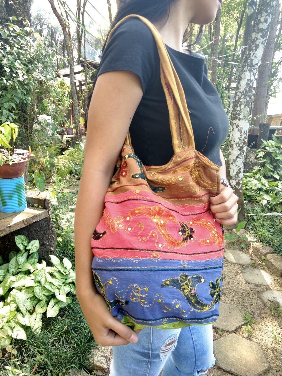 76a523abf bolsa indiana saco grande de tecido tipo sacola bordada mão. Carregando  zoom.