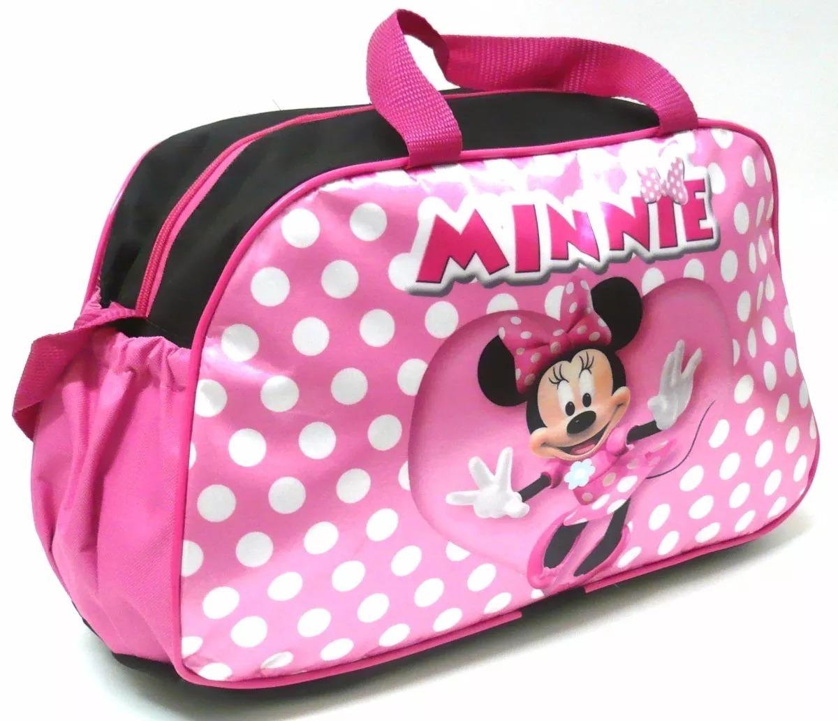 dc071fc26 bolsa infantil ou sacola viagem criança minnie mouse tam g. Carregando zoom.