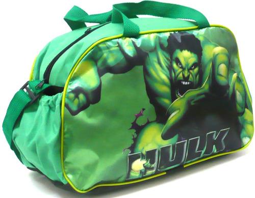 bolsa infantil ou sacola viagem hulk herói vingadores grande