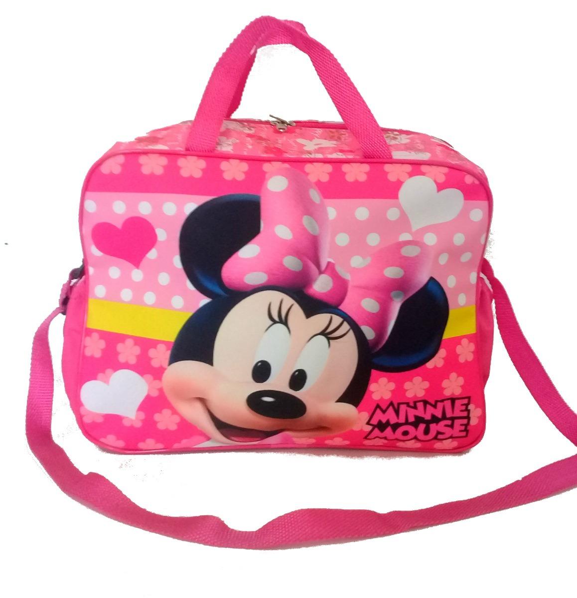 a3791c2ab bolsa infantil para viagem minnie mouse rosa mala de mão. Carregando zoom.