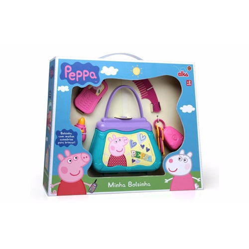 bolsa infantil peppa pig - minha bolsinha original elka