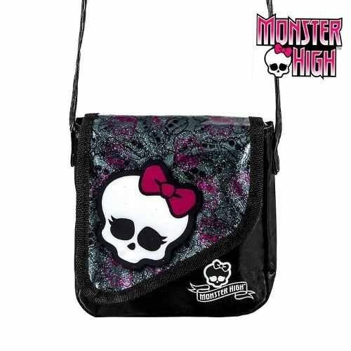 29119d5ca Bolsa Infantil Preta Monster High Caveira Bolsinha Criança P - R$ 14 ...