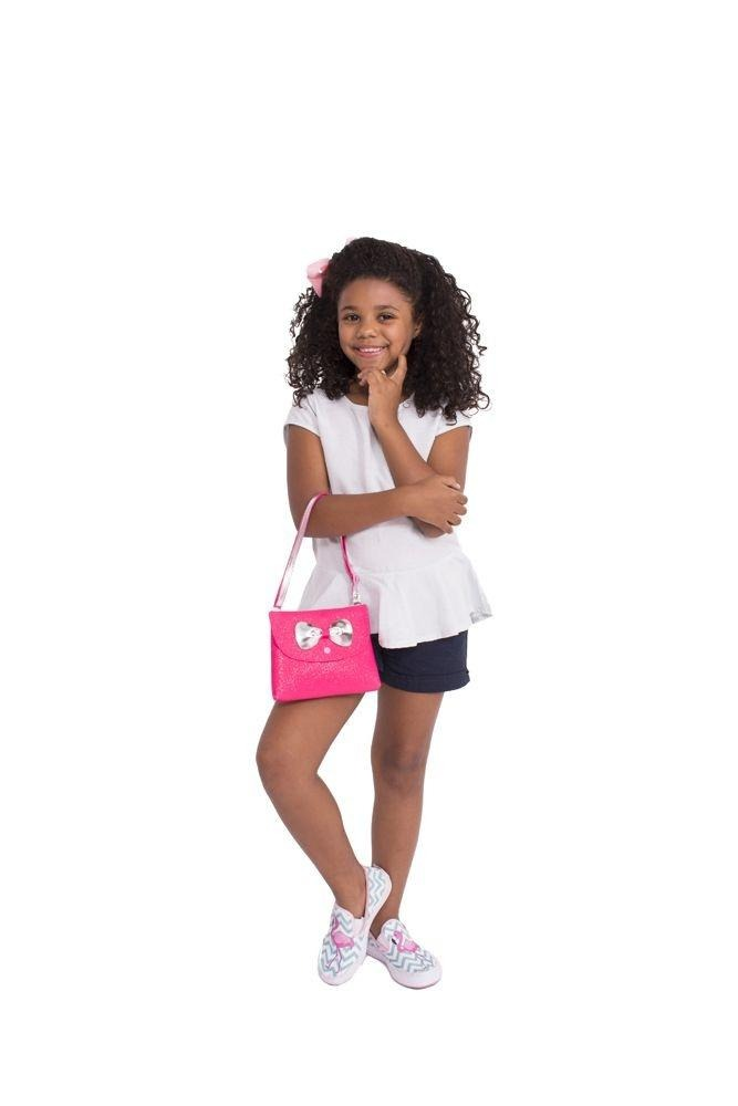 110b0c189 bolsa infantil princesa pink bolsa carteira glitter pink. Carregando zoom.