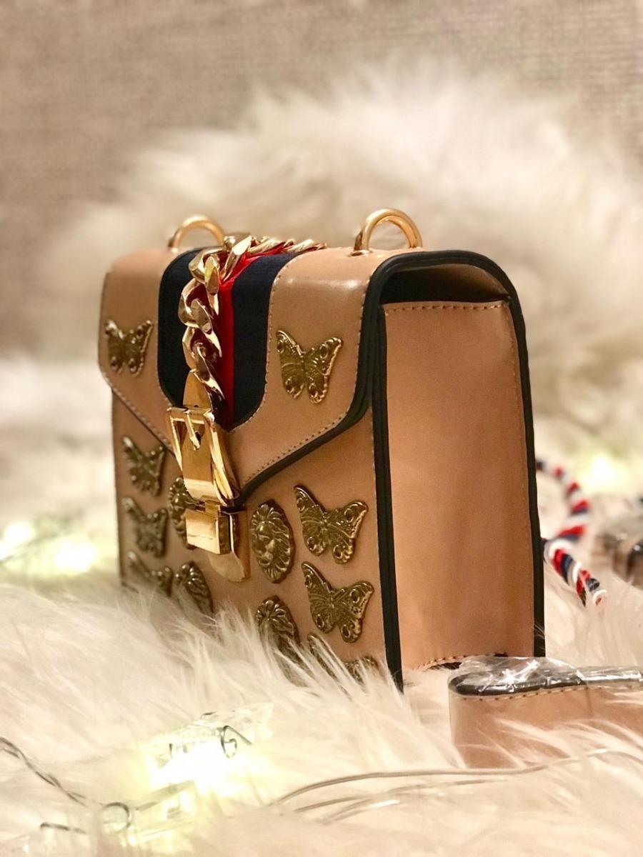 4616f22e8 bolsa inspiração gucci sylvie animal studs leather mini bag. Carregando  zoom.