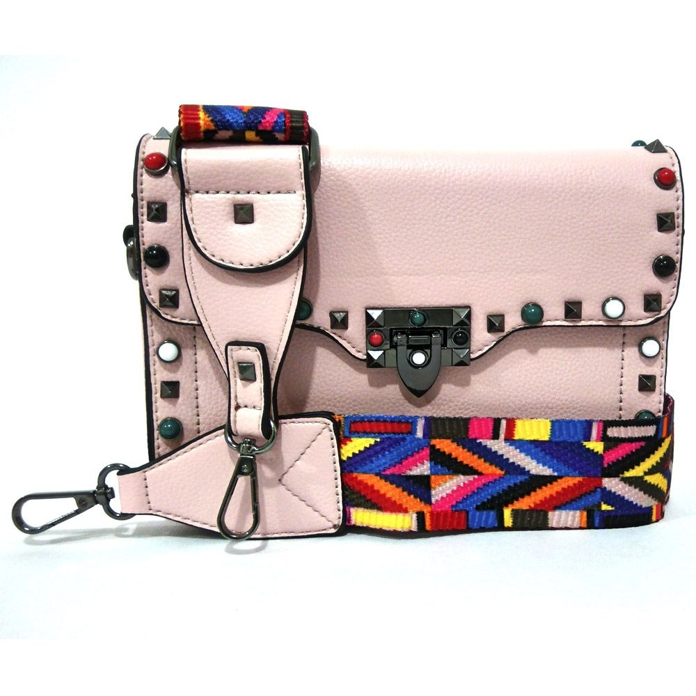 ea82f6792 bolsa inspired bag strap alça colorida inspired rosa clara. Carregando zoom.