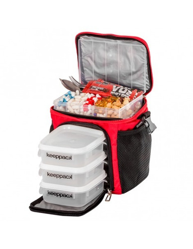 bolsa keeppack mid termica marmita refeições dieta academia