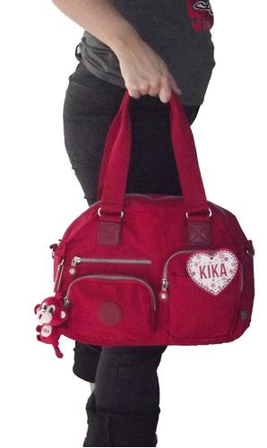bolsa kika verm 5 bolsos externos 3 internos c/ nf - kk9003