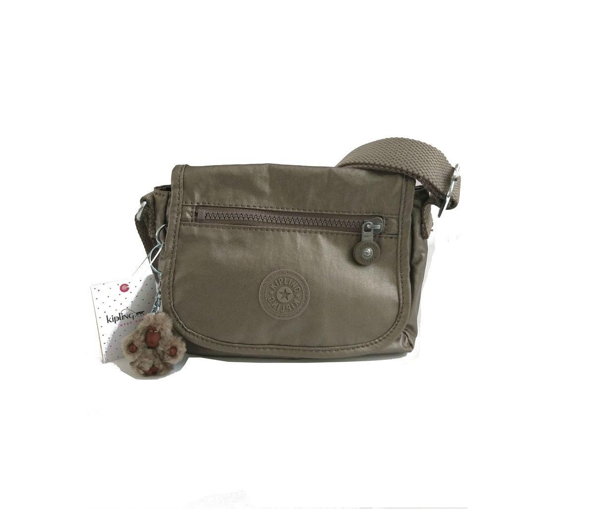 fd1b7553c3ab bolsa kipling sabian crossbody metallic mini bag original. Carregando zoom.