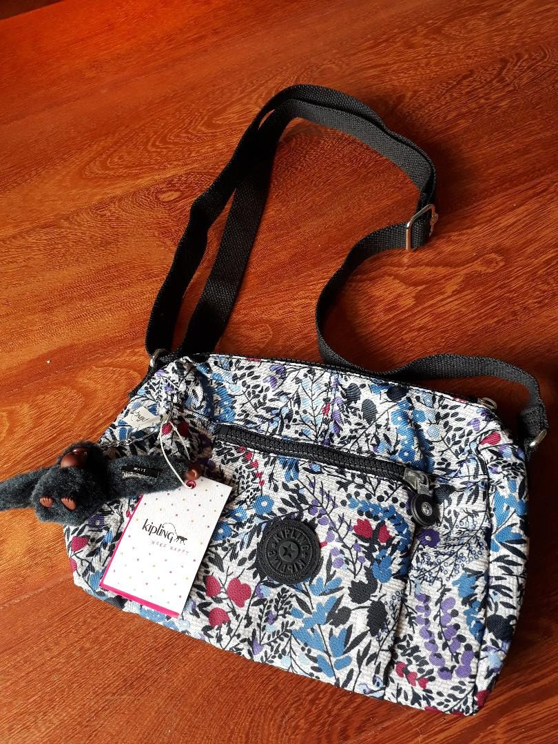 e88d0d20d Bolsa Kipling Wes Hb6557 Floral - Original - R$ 299,00 em Mercado Livre