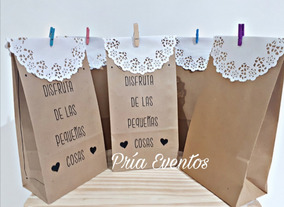5448a31fa Bolsa Papel Blonda - Souvenirs para tu casamiento, bautismo y más! en  Mercado Libre Argentina