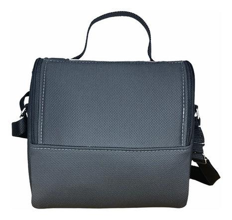 bolsa lancheira térmica com tecido automotivo