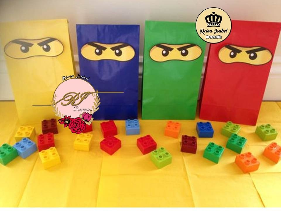 Bolsa Lego Ninjago Bautismo Candy Bar Baby Shower Cumple 23 60