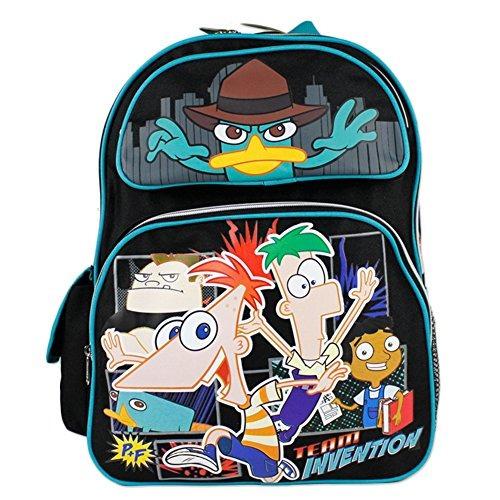 bolsa libros escolares disney phineas y ferb grande backpack