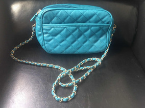 e448e32ff Chanel Paetes - Bolsas de Couro Azul no Mercado Livre Brasil