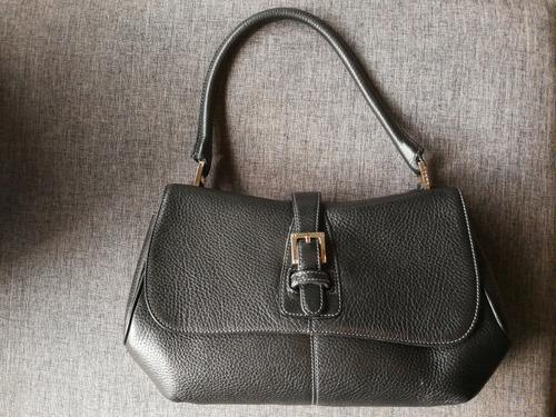 bolsa loewe auténtica negra de piel vintage