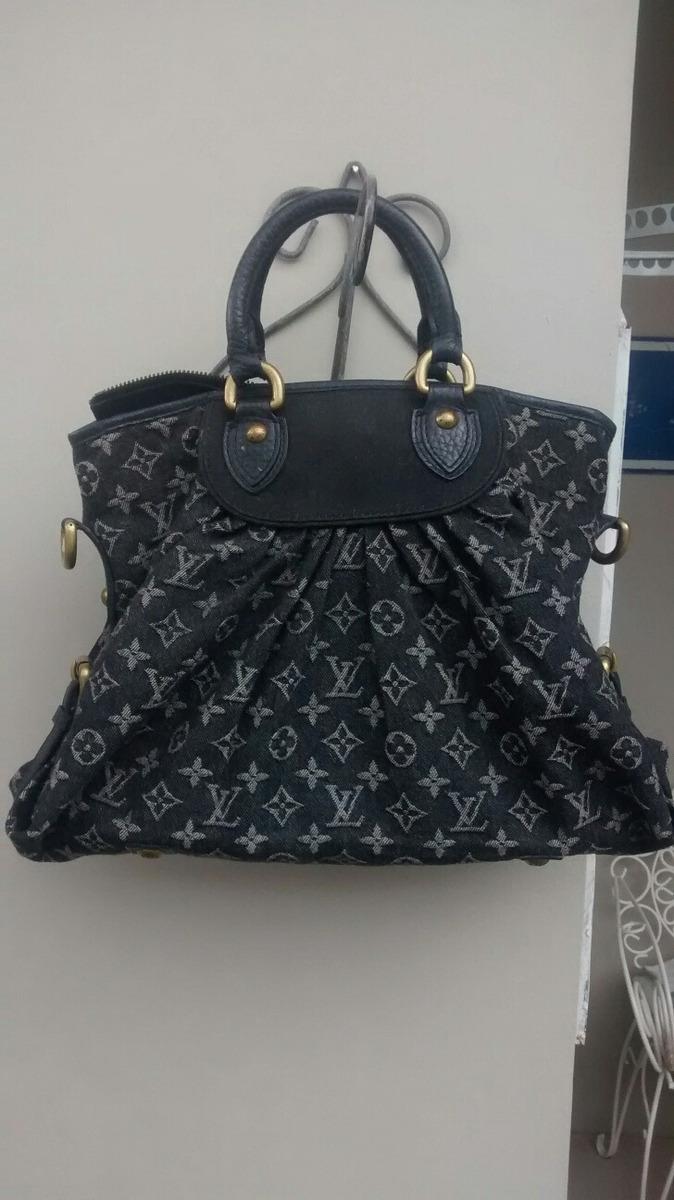 3b169b3e0 bolsa louis vuitton denim black original made in france. Carregando zoom.