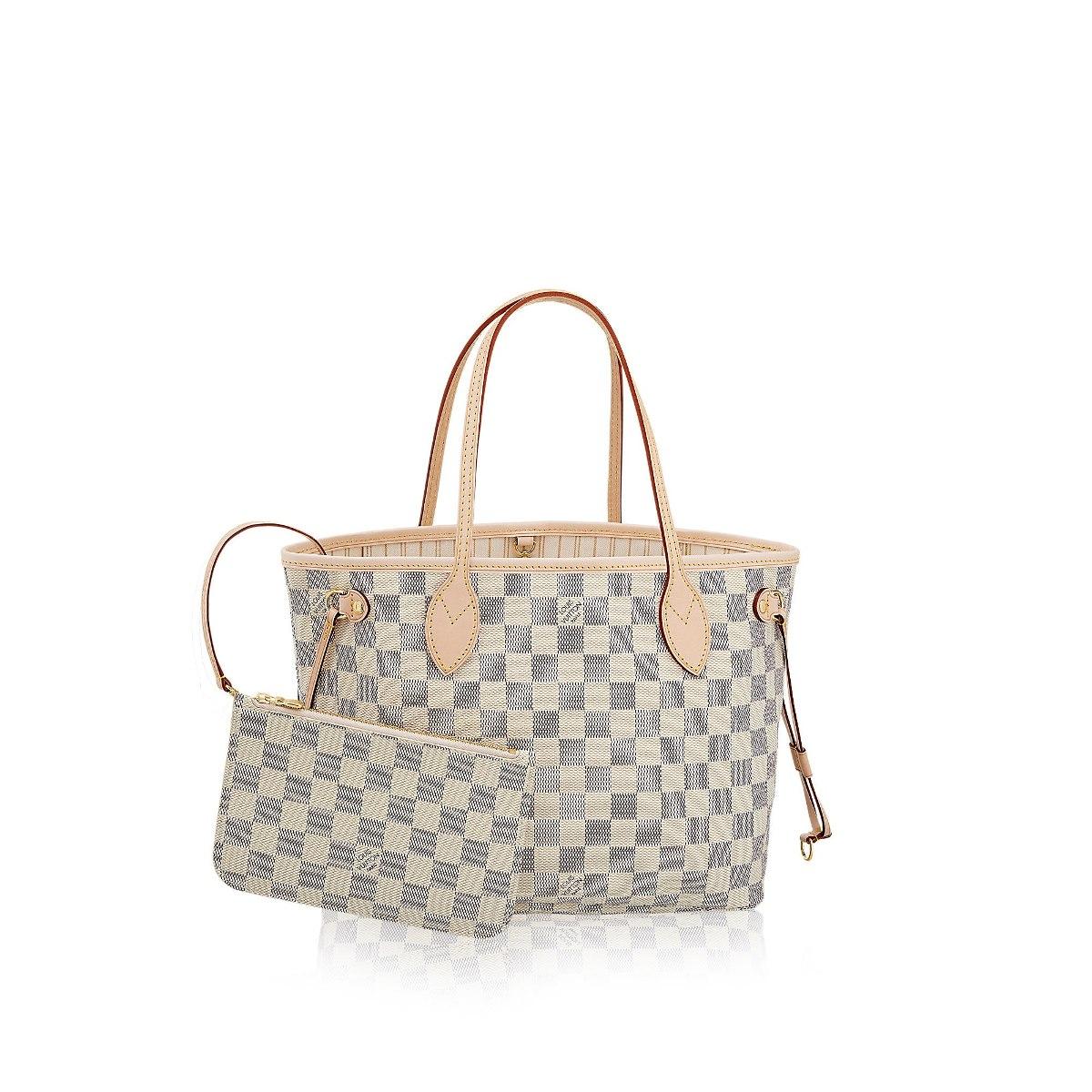 4d0ddb326 Bolsa Louis Vuitton Neverfull Damier Azur Tamanho M - R$ 299,90 em ...