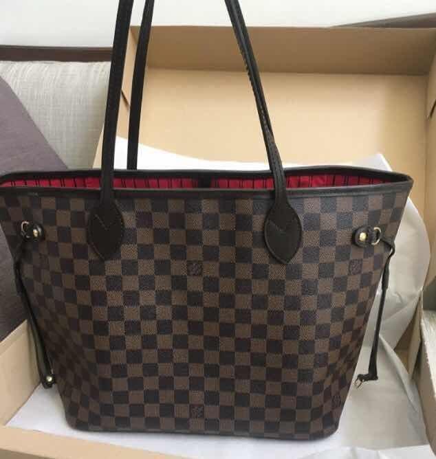 df52104e0 Bolsa Louis Vuitton Neverfull Damier Ebene Mm - $ 7,650.00 en ...