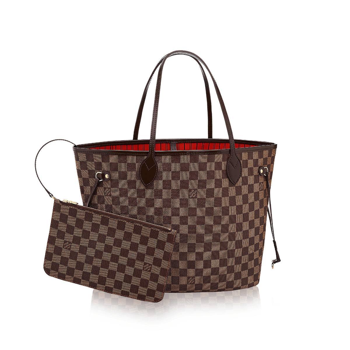 Bolsa Louis Vuitton Neverfull Damier Ebene Tamanho G - R  349 68728fd9318