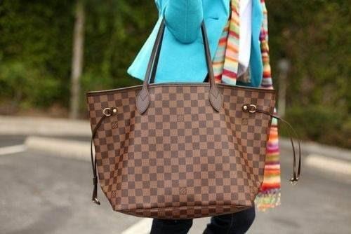 3d9f4c5d6 Bolsa Louis Vuitton Neverfull Damier Ebene Tamanho M - R$ 299,90 em ...