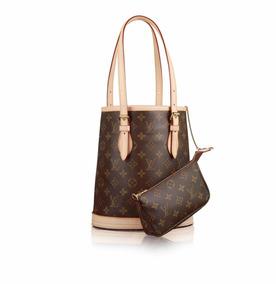 09d72db60 Bolsa Louis Vuitton Petit Bucket Couro Legítimo Monogram