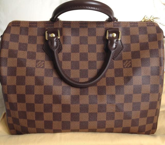 e2a371490 Bolsa Louis Vuitton Speedy 30 Damier Azur Monogram Lv Caja ...